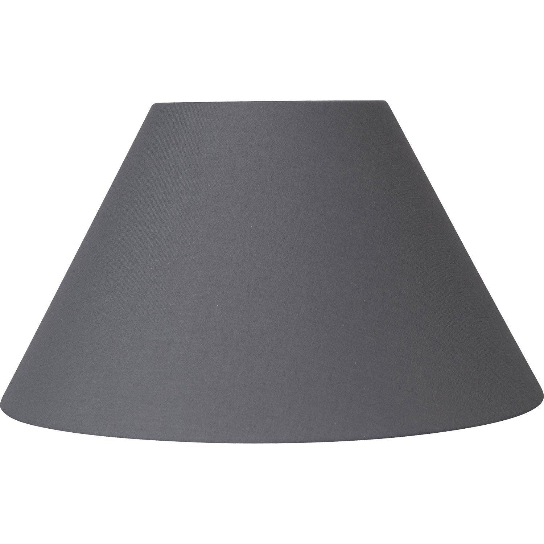 abat jour sweet 60 cm coton gris galet n 3 inspire. Black Bedroom Furniture Sets. Home Design Ideas