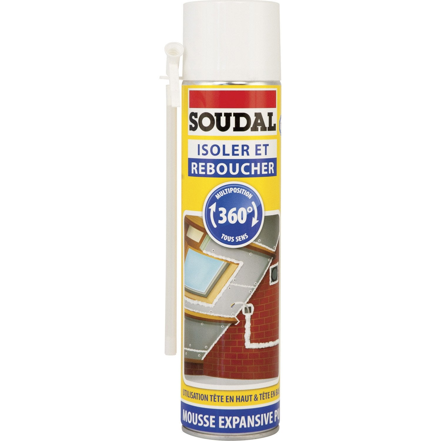 Mousse expansive isoler et reboucher 360 soudal x mm mm - Mousse acoustique leroy merlin ...