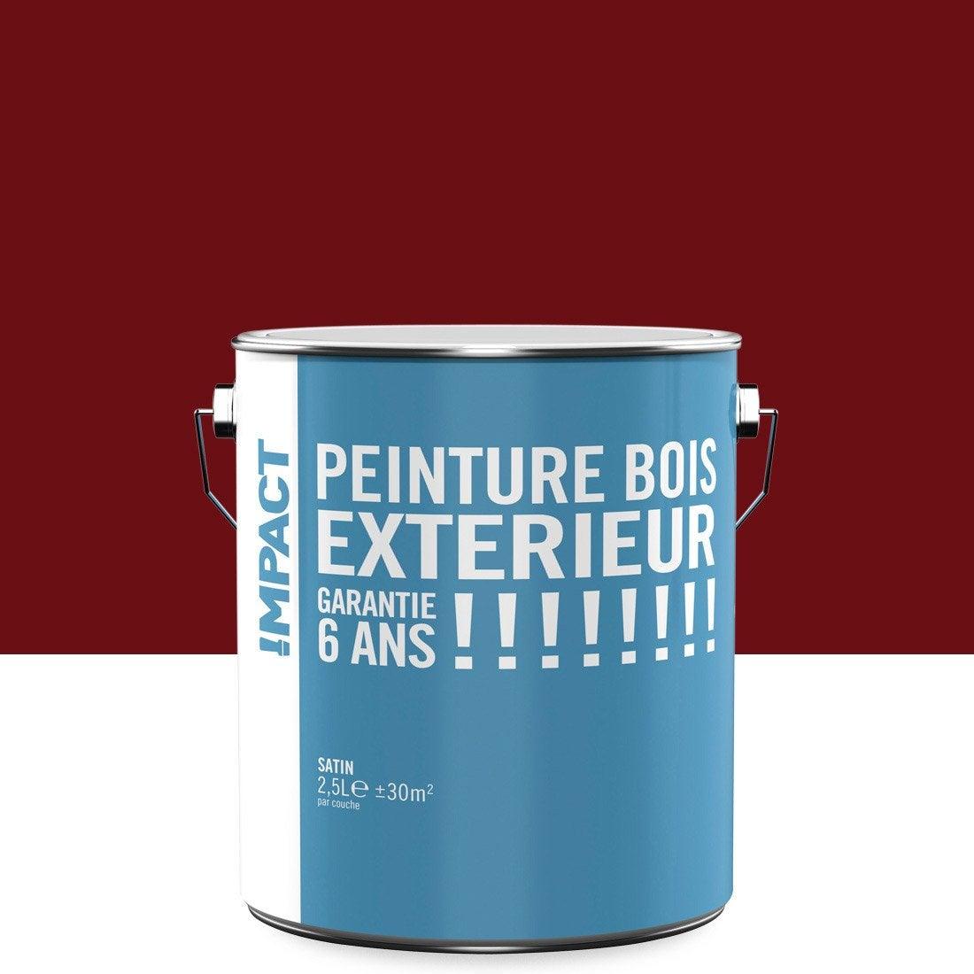 Peinture bois ext rieur impact rouge 2 5 l leroy merlin for Peinture piscine leroy merlin