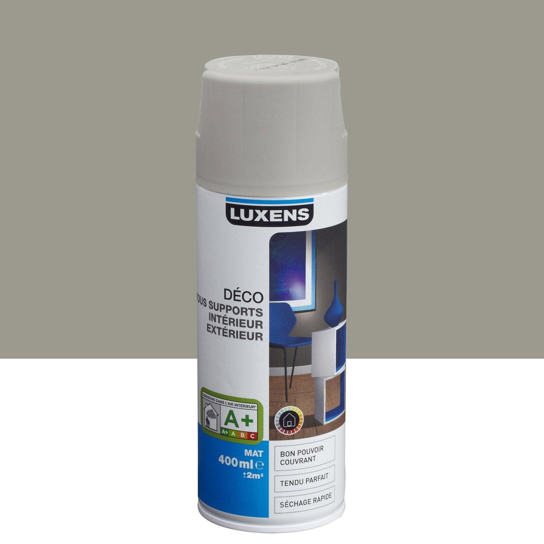 Peinture a rosol mat luxens gris gris n 4 0 4 l leroy - Peinture leroy merlin luxens ...