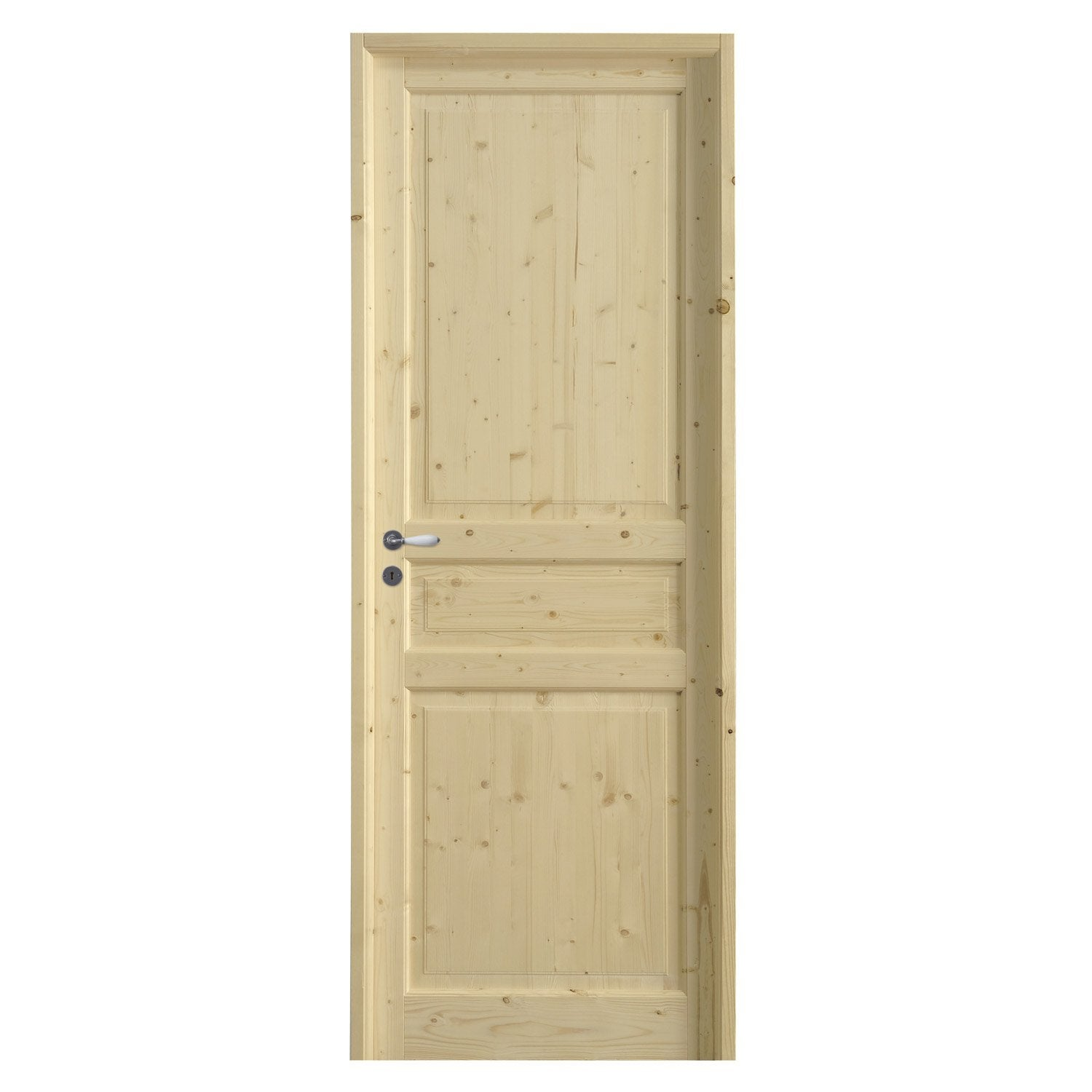 Bloc porte sapin charme x cm leroy merlin for Porte interieur point p