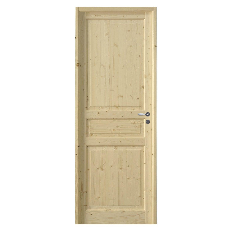 bloc porte charme poussant droit 204 x 73 cm leroy merlin. Black Bedroom Furniture Sets. Home Design Ideas