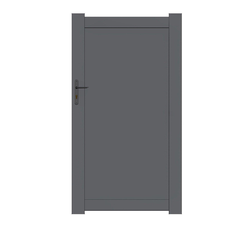 Portillon aluminium, bois, fer, PVC | Leroy Merlin