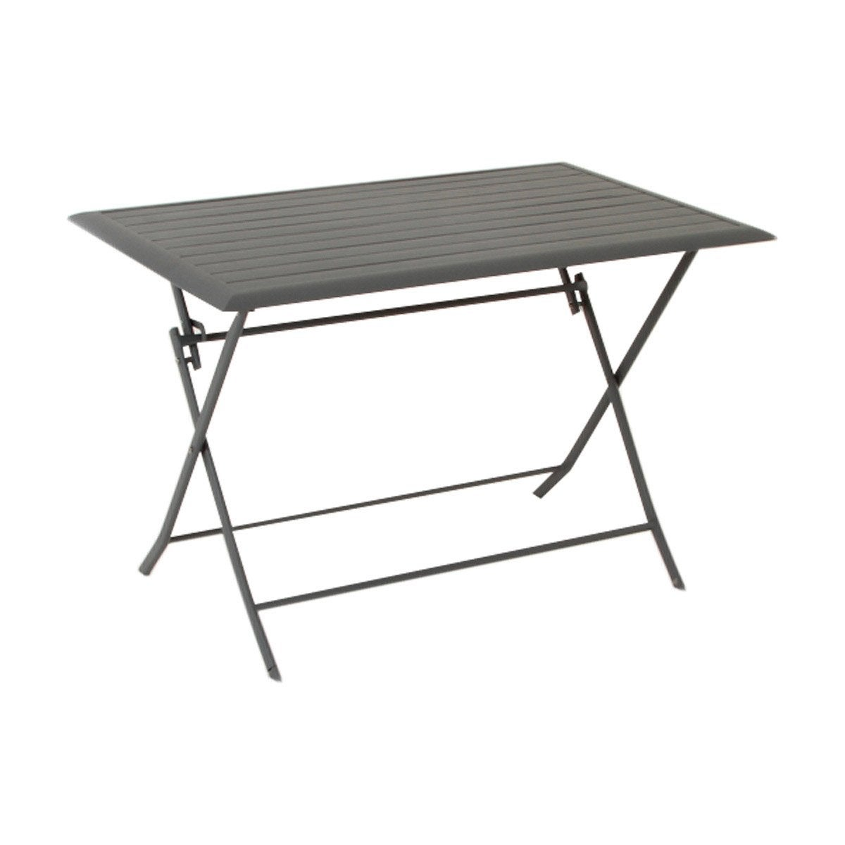 Table de jardin hesperide azua rectangulaire ardoise 4 - Table pliante de jardin leroy merlin ...