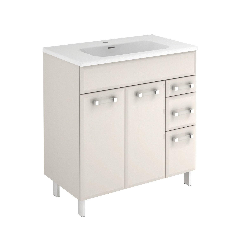 meuble vasque 81 cm gr ge opale leroy merlin. Black Bedroom Furniture Sets. Home Design Ideas