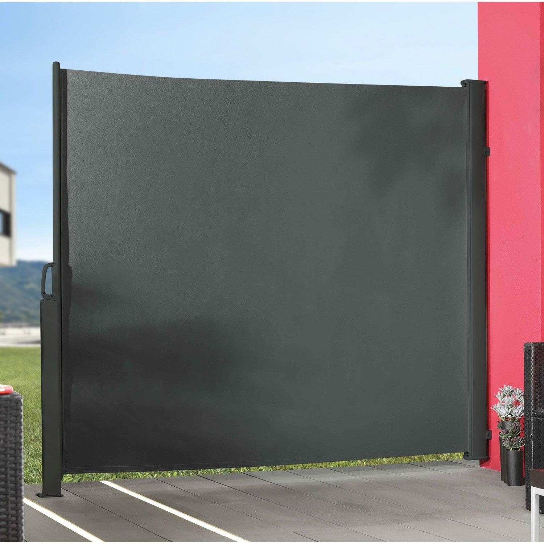 panneau textile occultant sunslid 5 x cm gris leroy merlin. Black Bedroom Furniture Sets. Home Design Ideas
