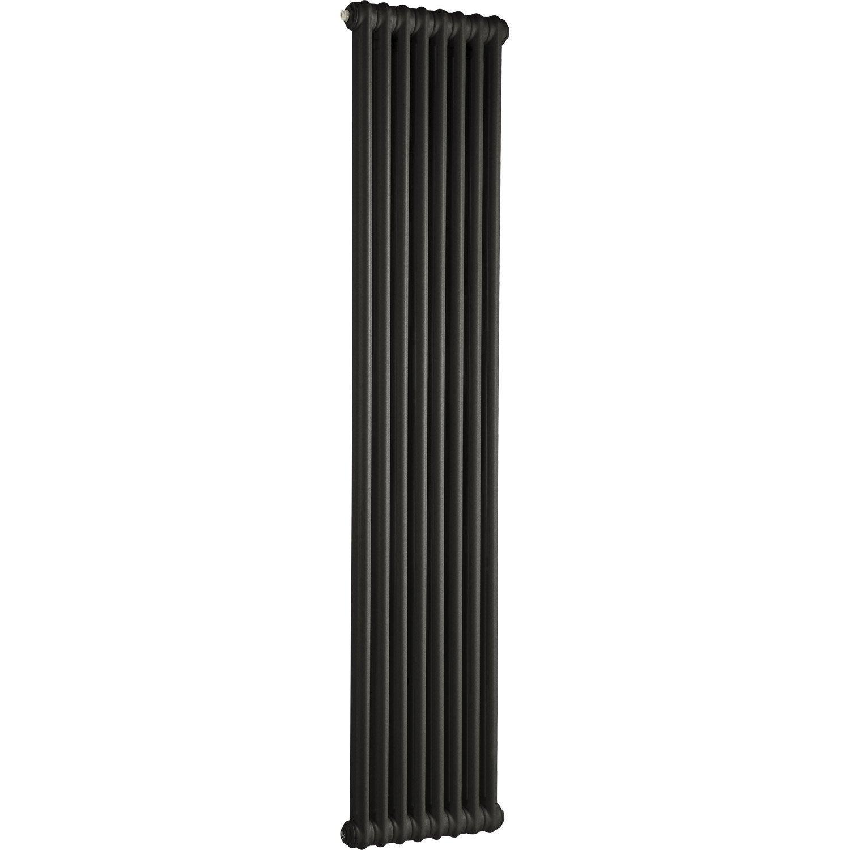 radiateur chauffage central acier tesi 2 noir. Black Bedroom Furniture Sets. Home Design Ideas
