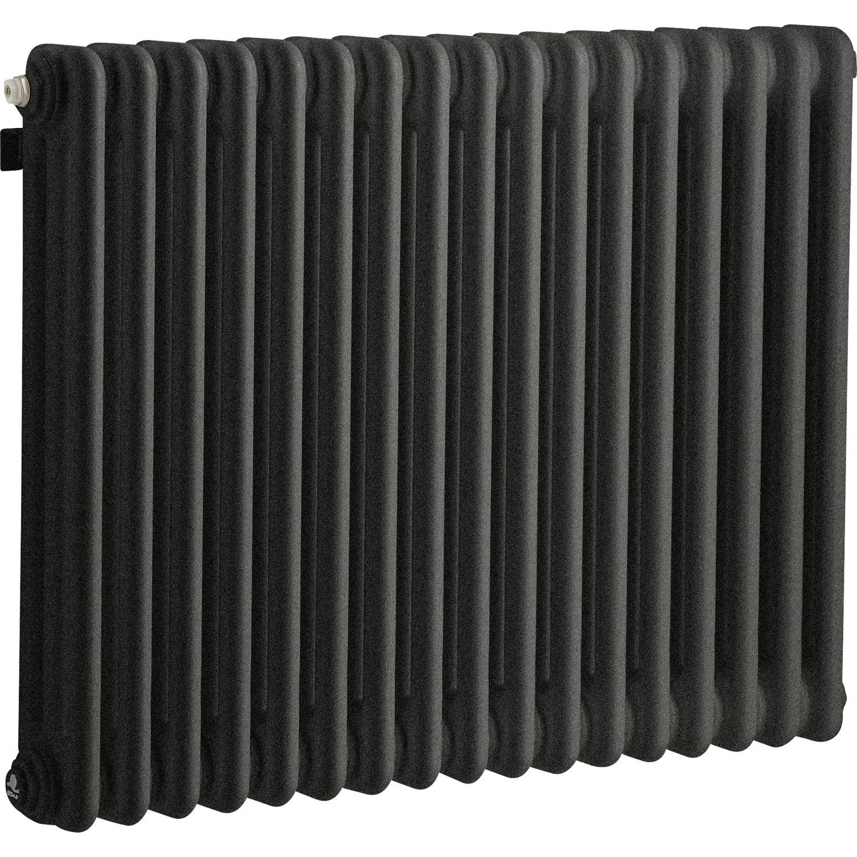 radiateur chauffage central acier tesi 3 noir graphite 1030w leroy merlin. Black Bedroom Furniture Sets. Home Design Ideas