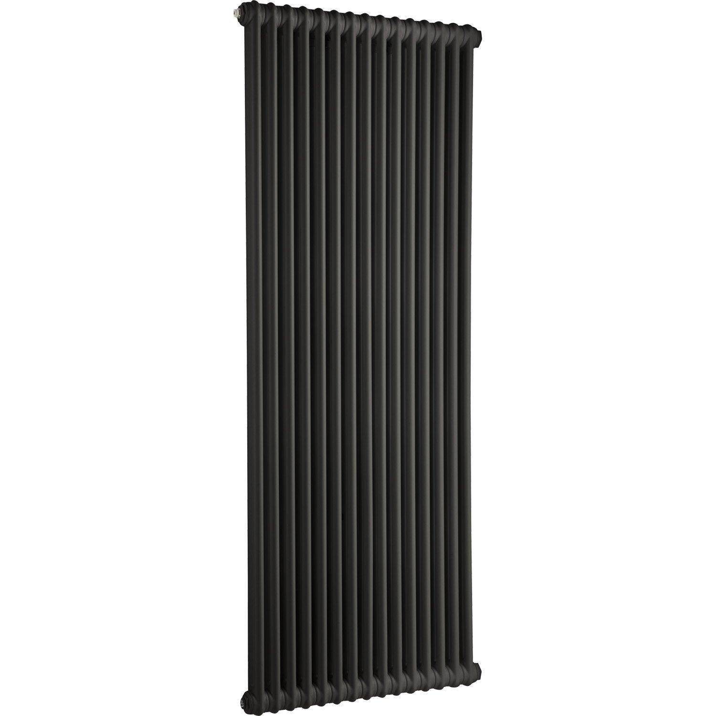 radiateur chauffage central acier tesi 2 noir 1864w. Black Bedroom Furniture Sets. Home Design Ideas