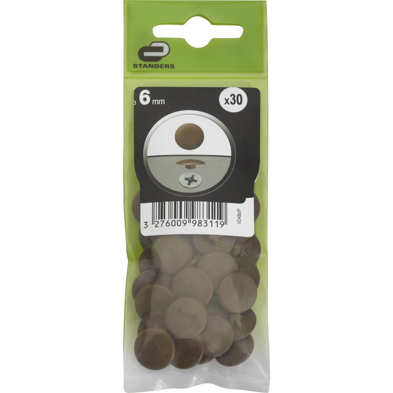 lot de 30 cache vis plastique standers diam 6 mm leroy merlin. Black Bedroom Furniture Sets. Home Design Ideas