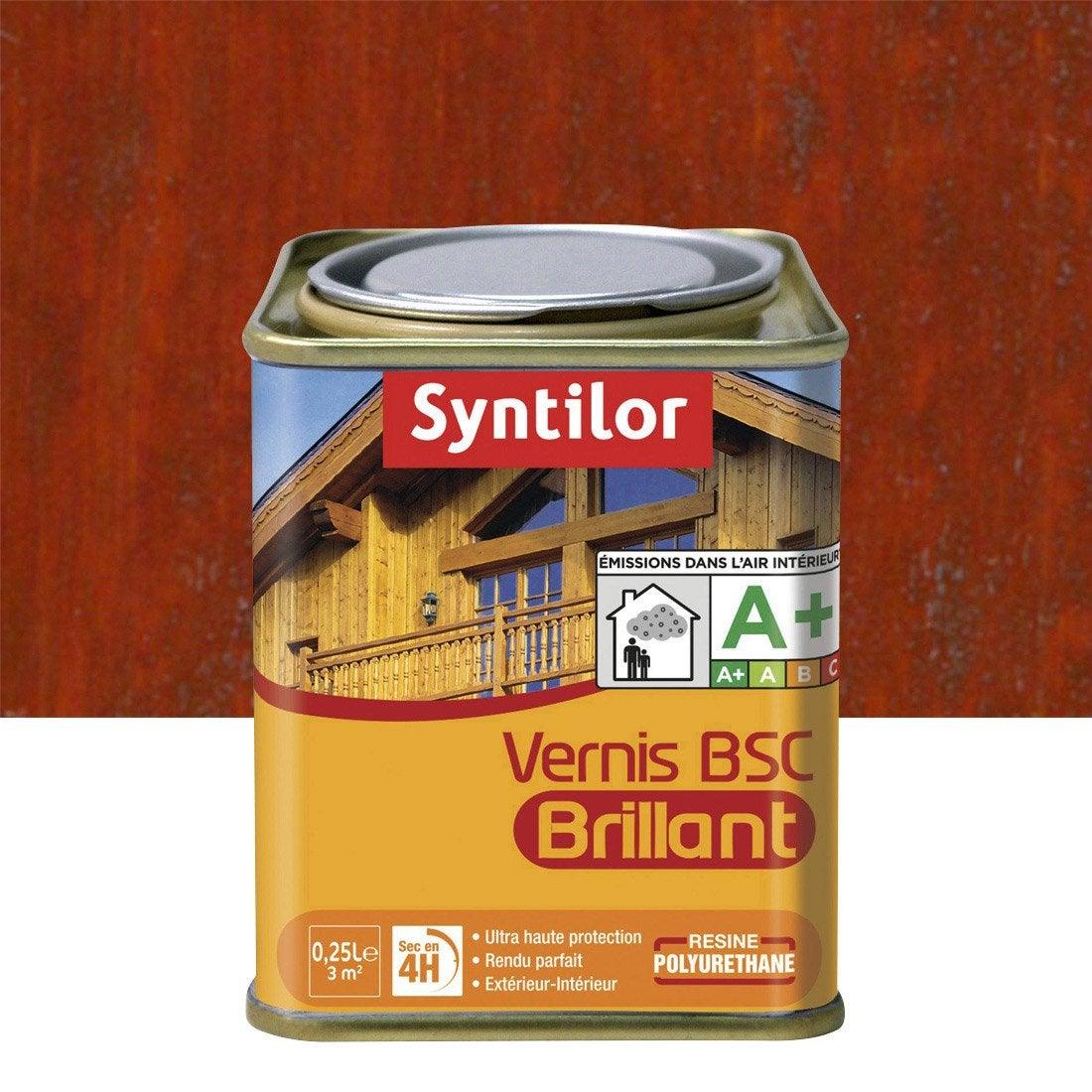 Vernis BSC brillant SYNTILOR, bois rouge, 025 L  Leroy Merlin ~ Vernis Bois Rouge