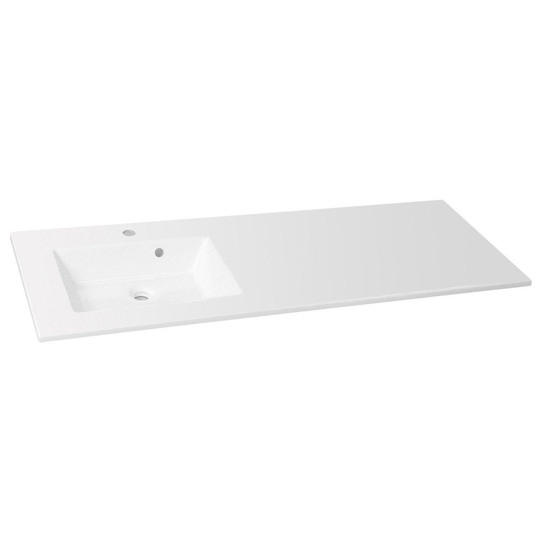 Plan vasque simple modern r sine de synth se 121 0 cm for Plan vasque leroy merlin