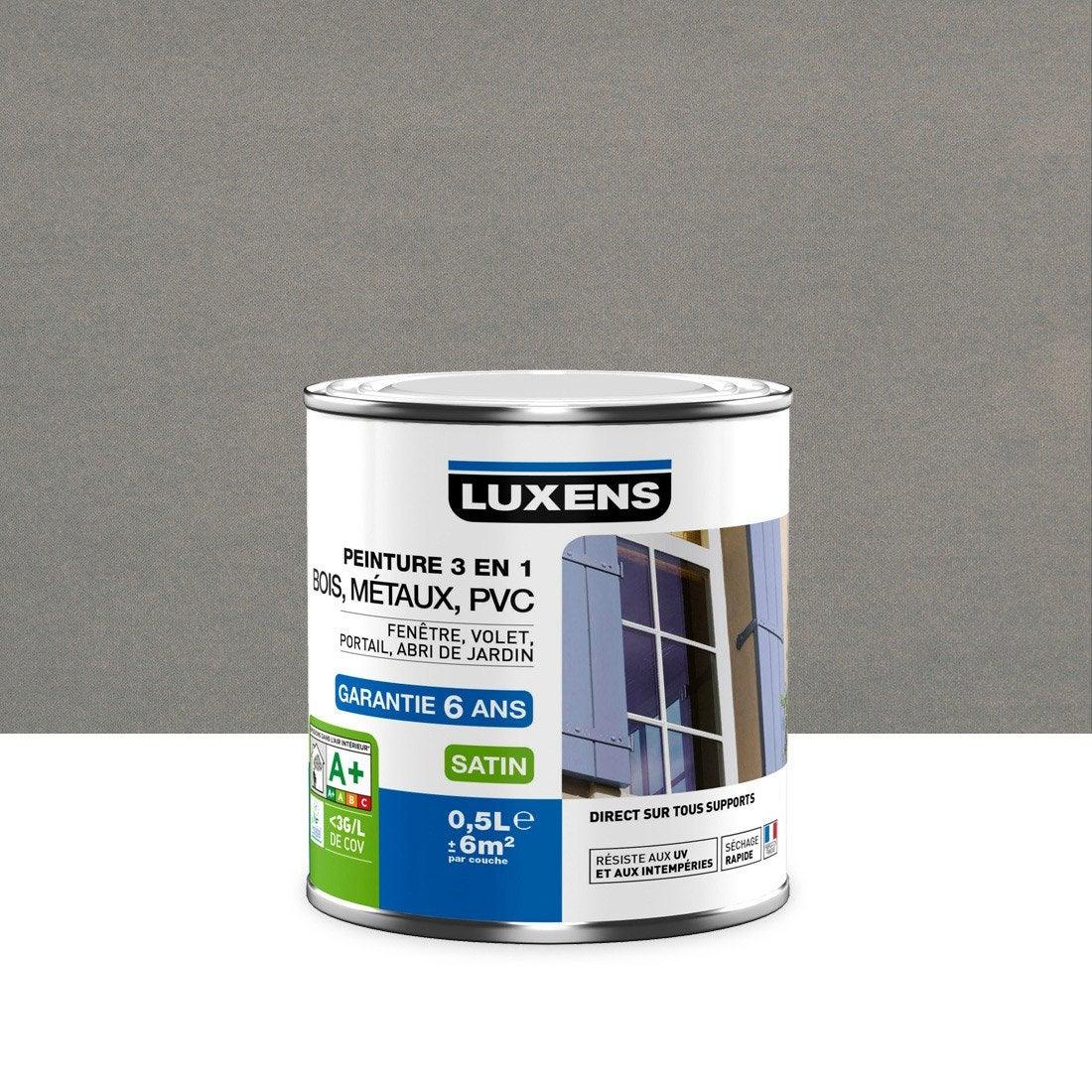 Peinture multimatériau extérieur 3 en 1 LUXENS, gris zingué n°3 ...