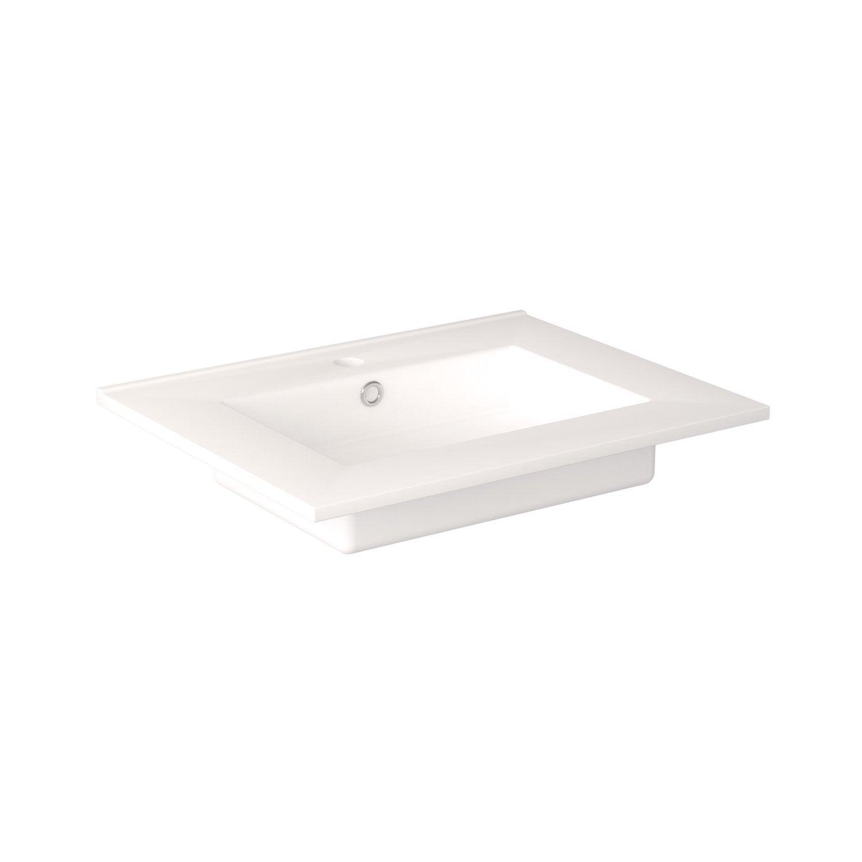 Plan vasque simple first c ramique 61 cm leroy merlin for Plan vasque leroy merlin