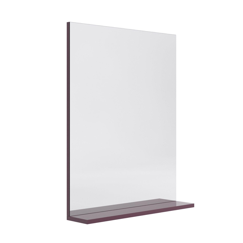 Miroir avec tablette opale aubergine leroy merlin - Miroir grossissant leroy merlin ...