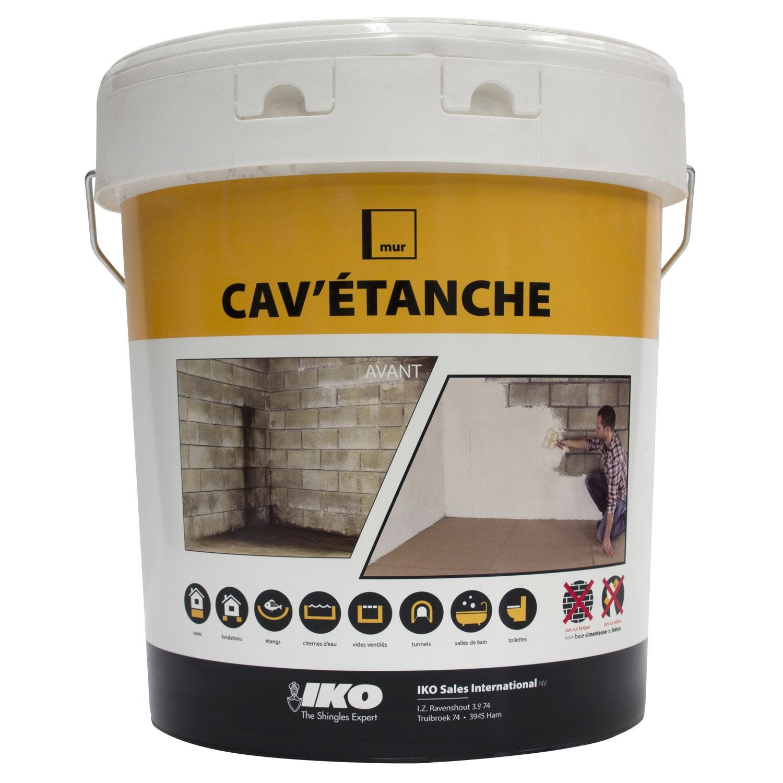 Enduit ciment pour cave iko cav 39 tanche 20 kg gris leroy merlin - Ciment colle leroy merlin ...