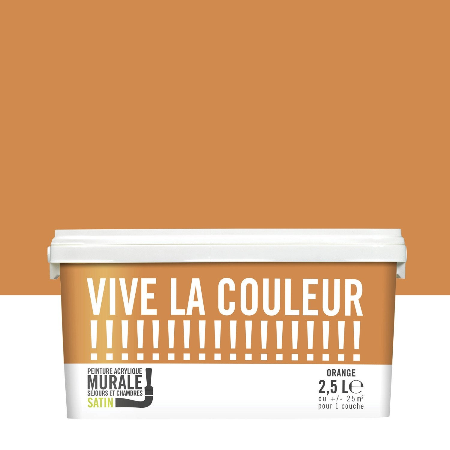 Peinture orange vive la couleur 2 5 l leroy merlin for Peintures interieures leroy merlin
