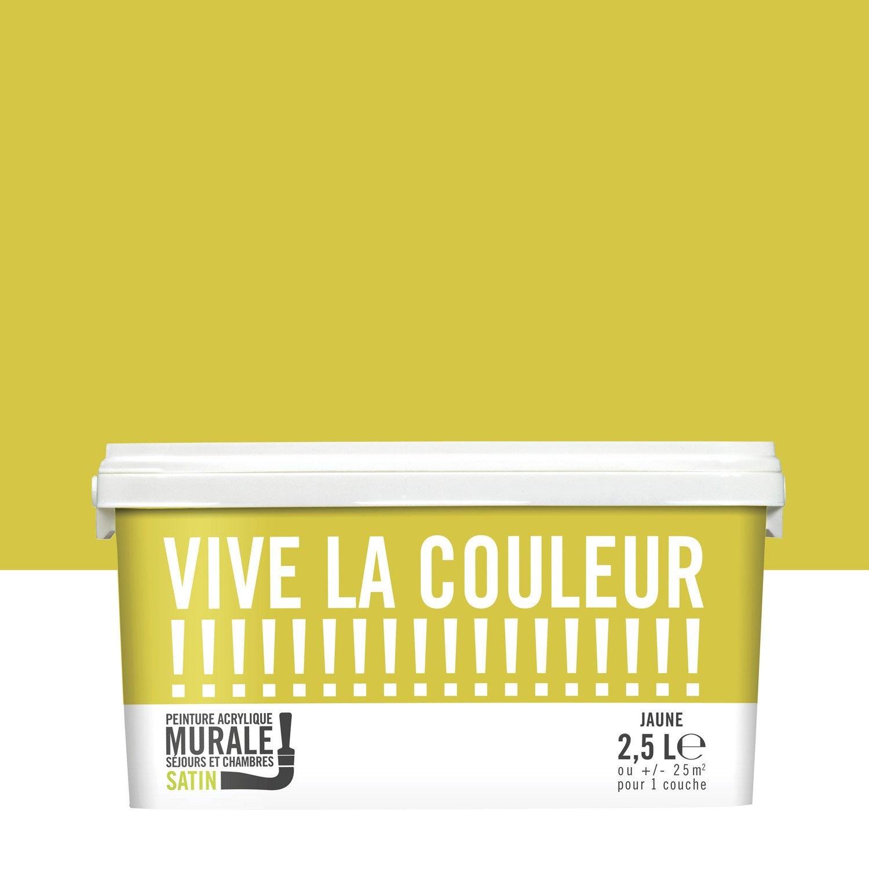 Peinture jaune VIVE LA COULEUR! 25 l  Leroy Merlin