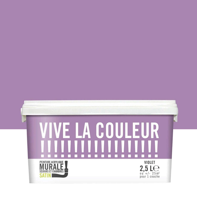 Peinture violet VIVE LA COULEUR 2 5 l