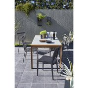 Table de jardin Berlin rectangulaire gris 6 personnes