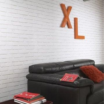 papier peint sur papier inspire brique loft blanc larg m leroy merlin. Black Bedroom Furniture Sets. Home Design Ideas