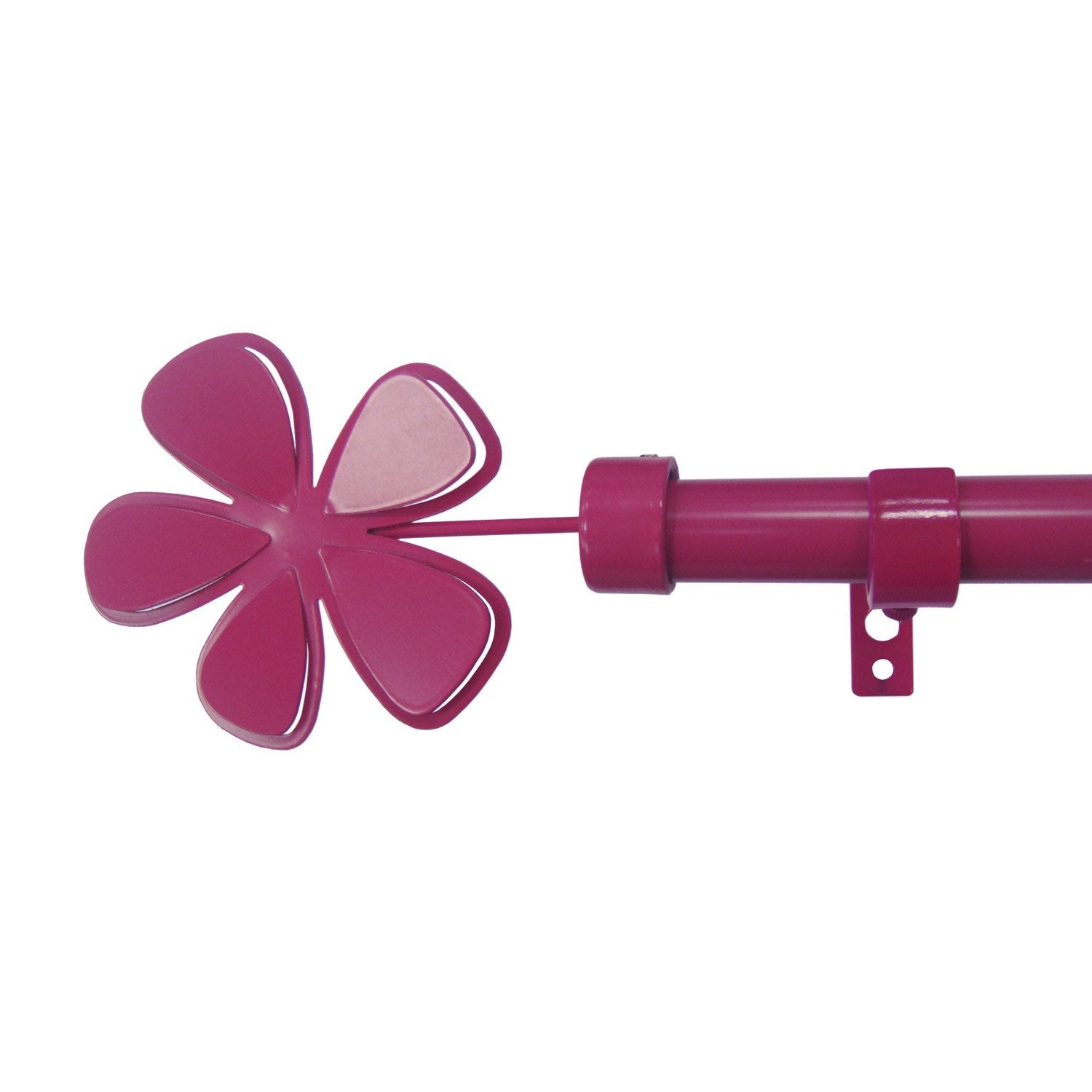 Kit de tringle rideau extensible roseshoc rose - Tringle a rideau leroy merlin ...