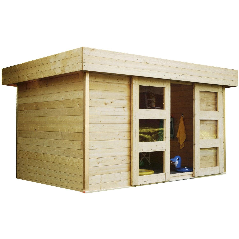Abri de jardin en bois stockholm m p 28 mm for Abri de jardin pour bois