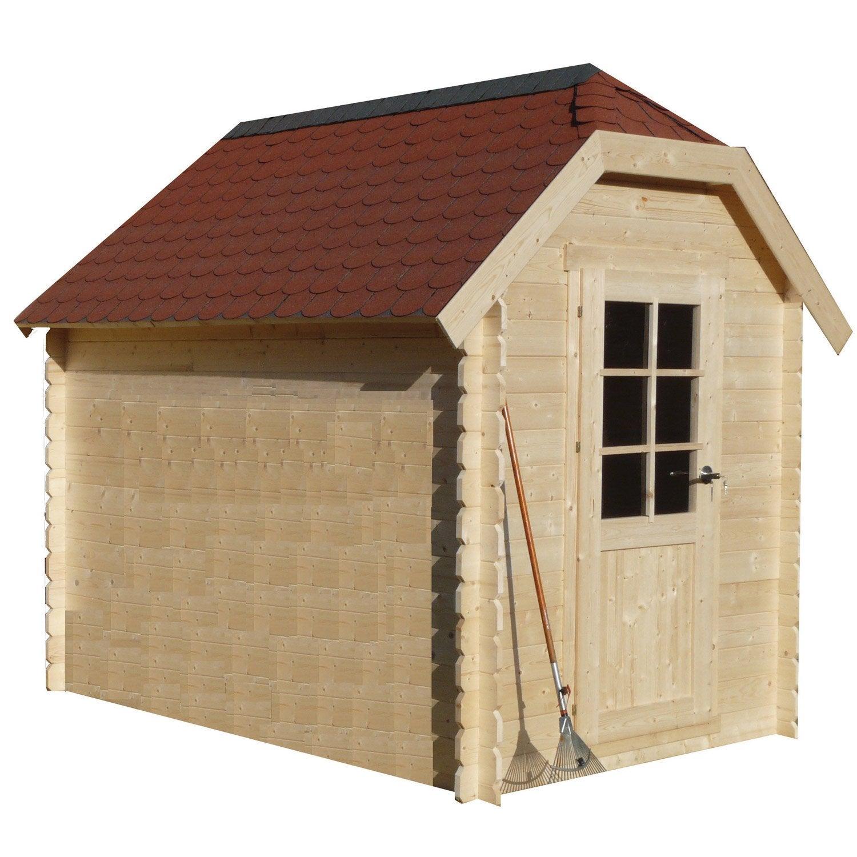 abri bois cottage m mm leroy merlin. Black Bedroom Furniture Sets. Home Design Ideas