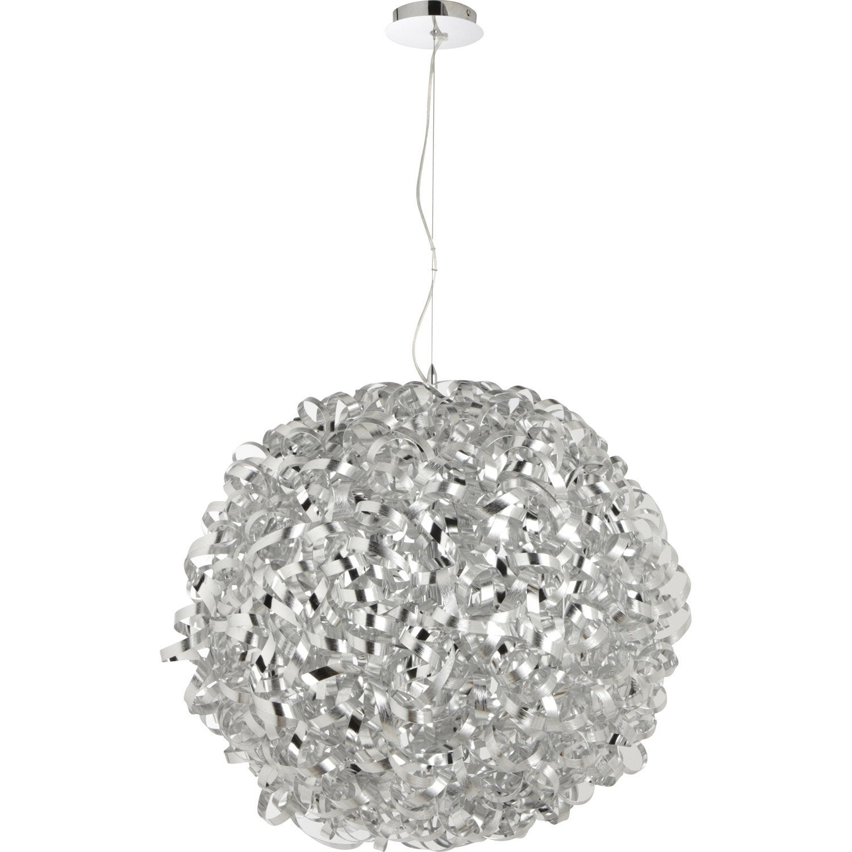 suspension op ra argent 5x60 watts diam 70 cm leroy merlin. Black Bedroom Furniture Sets. Home Design Ideas