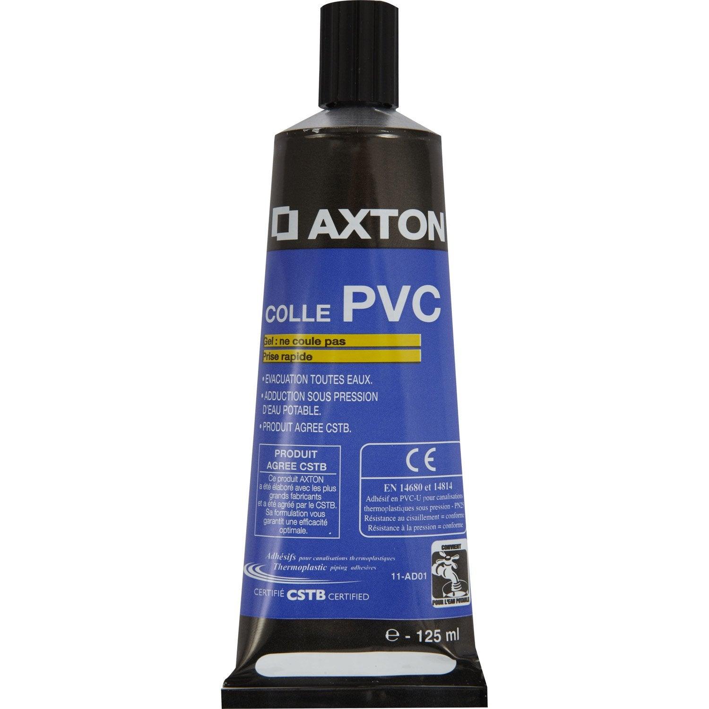Colle pvc en gel axton tube 125 ml leroy merlin for Gel transfer leroy merlin