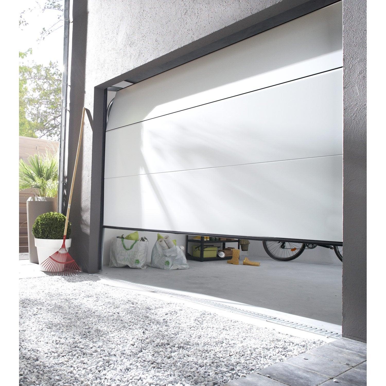 porte de garage sectionnelle motoris e palma rainures. Black Bedroom Furniture Sets. Home Design Ideas