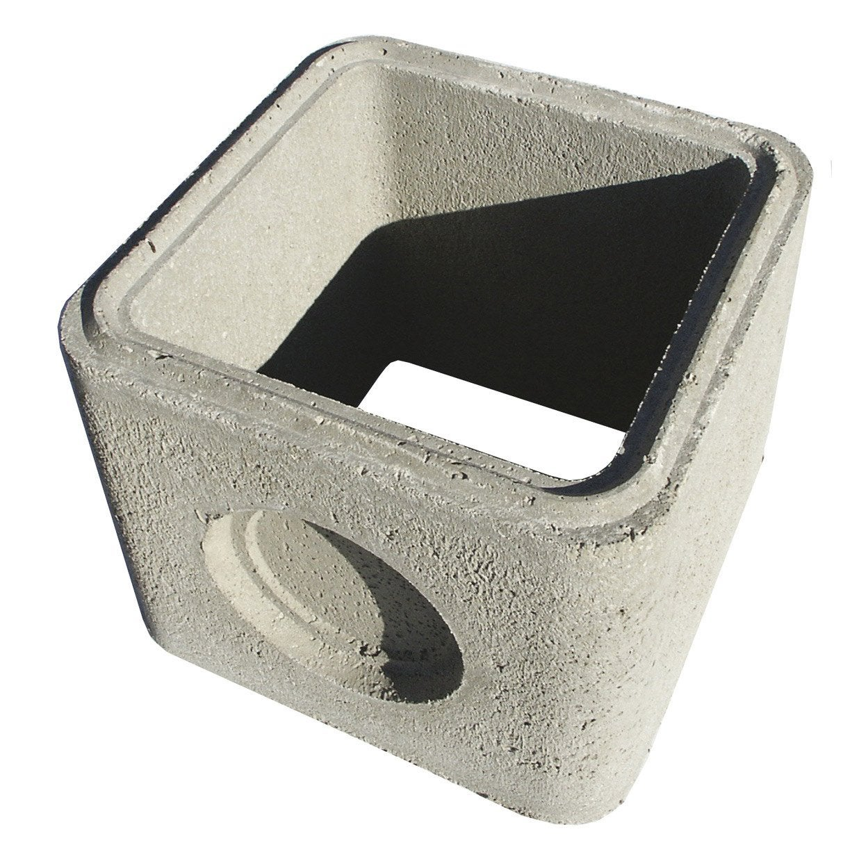 Rehausse bt40 b ton 40x40x33 cm leroy merlin - Rehausse beton ronde ...