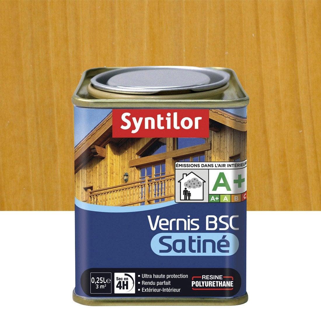 Vernis syntilor bsc satine l bois clair leroy merlin - Vernis marin leroy merlin ...