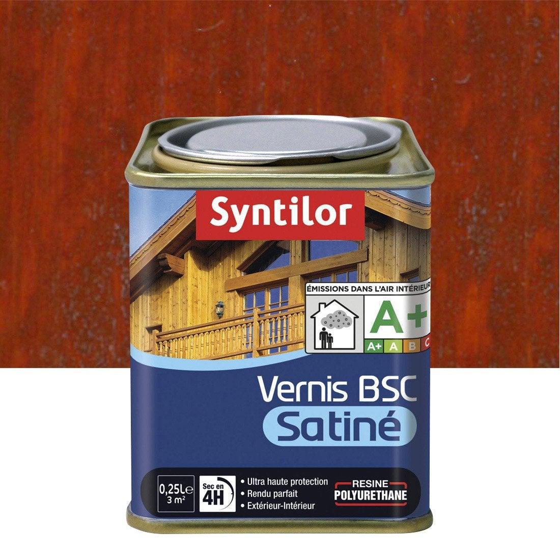 Vernis SYNTILOR Bsc satine 025 l, bois rouge  Leroy Merlin ~ Vernis Bois Rouge