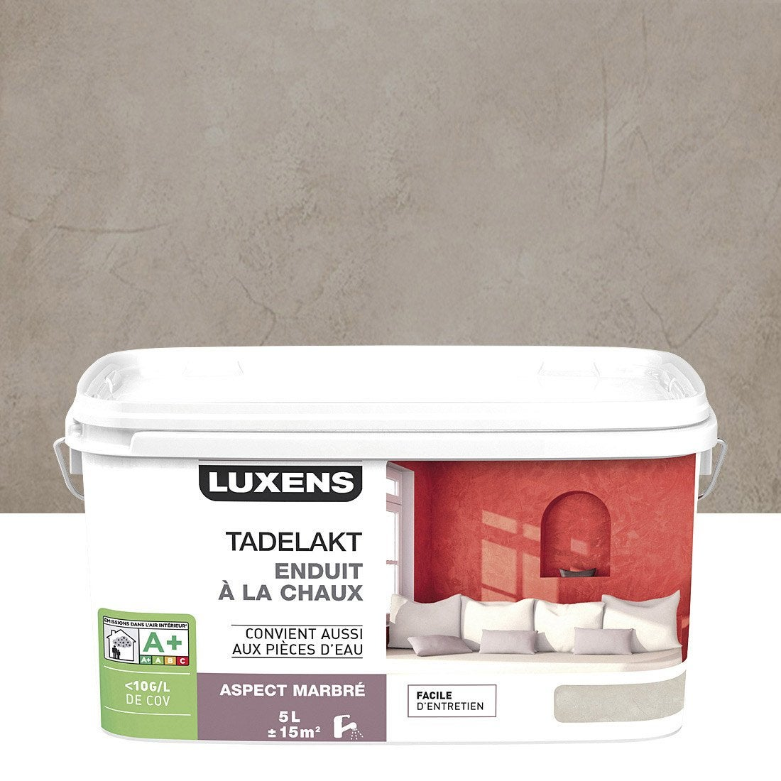 peinture effet tadelakt luxens gris gris 4 5 l