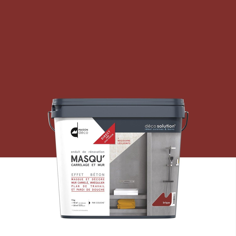 Enduit masqu 39 carrelage et mur maison deco rouge brique for Carrelage exterieur rouge brique