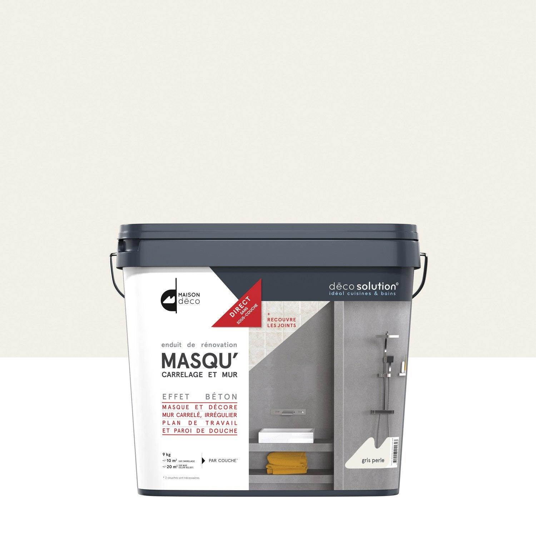 Enduit masqu 39 carrelage et mur maison deco gris perle 9 kg leroy merlin for Prix peinture pour carrelage