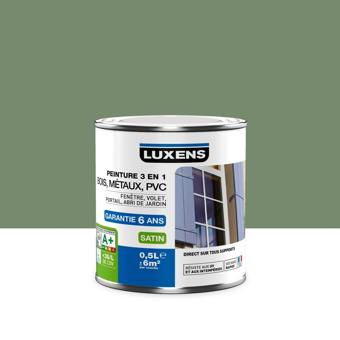 peinture multimat riau ext rieur 3 en 1 luxens vert. Black Bedroom Furniture Sets. Home Design Ideas