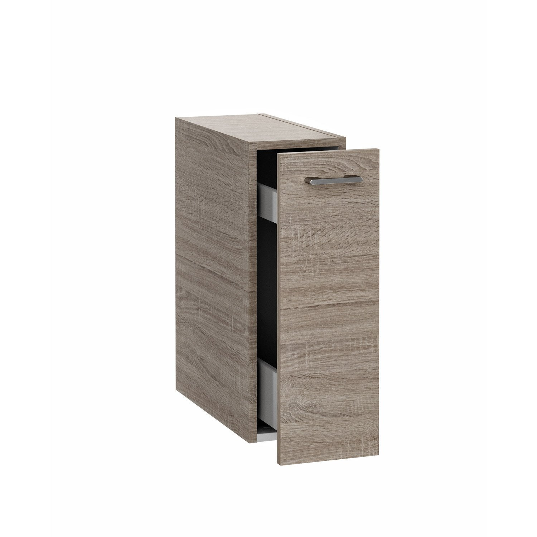 caisson meuble bas sensea remix imitation ch ne gris leroy merlin. Black Bedroom Furniture Sets. Home Design Ideas