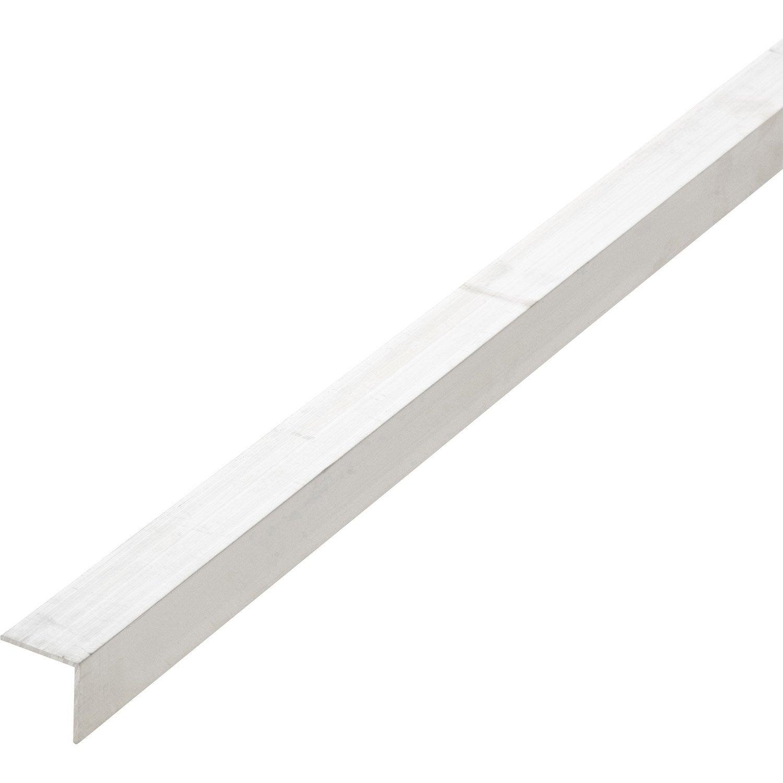 Corni re aluminium 30 x 30 mm l 2 4 m leroy merlin - Corniere alu leroy merlin ...