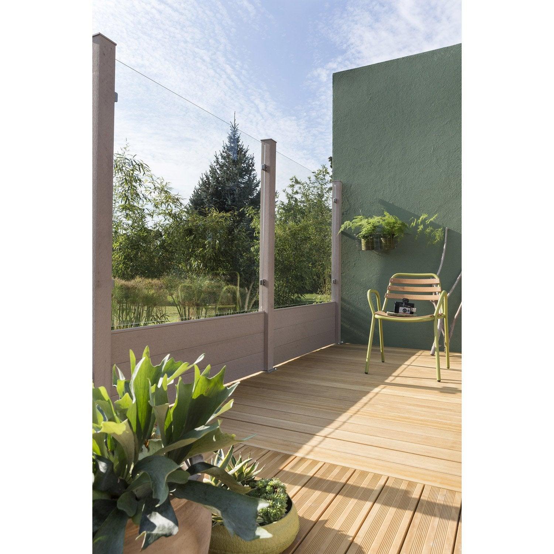 panneau transparent resysta 8 x 124 x 146 cm leroy merlin. Black Bedroom Furniture Sets. Home Design Ideas