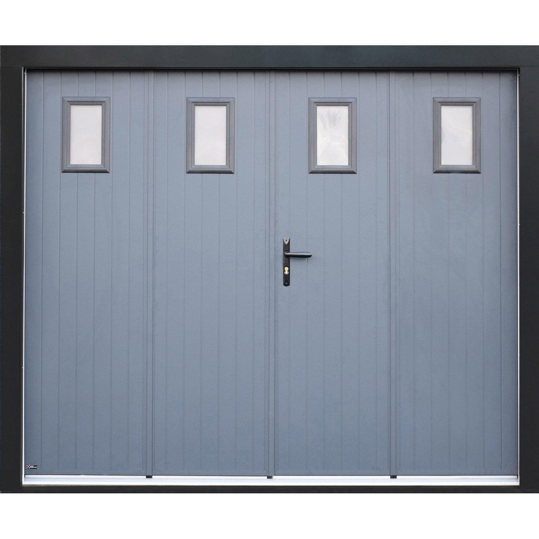 Porte de garage la fran aise manuelle artens essentiel x cm l - Prix d une porte coulissante scrigno ...