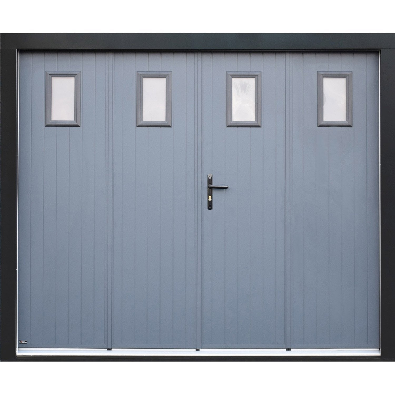 Porte de garage pliante manuelle artens essentiel 200 x for Porte de garage en promotion
