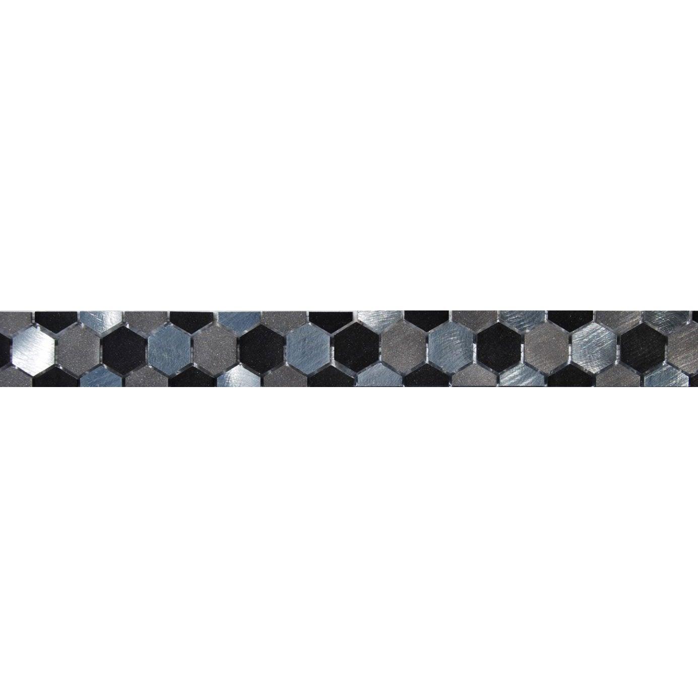 Frise techno polygone gris l 5 5 x cm leroy merlin - Leroy merlin frise adhesive ...