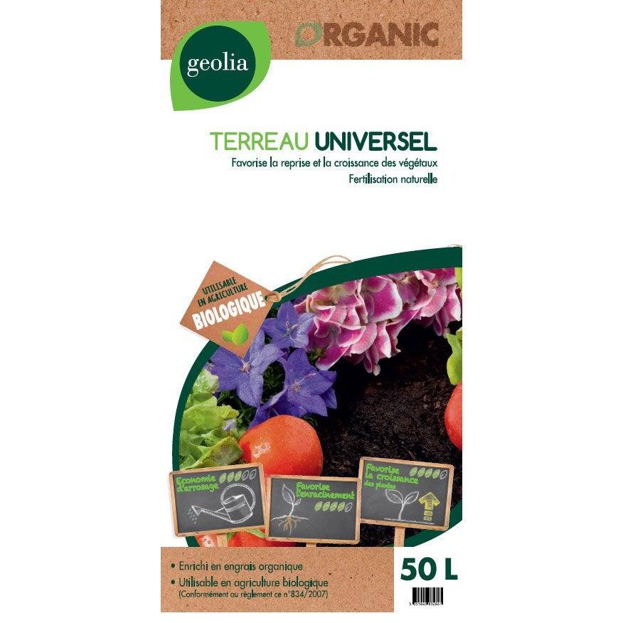 Terreau universel geolia 50 l leroy merlin - Prix terre vegetale leroy merlin ...