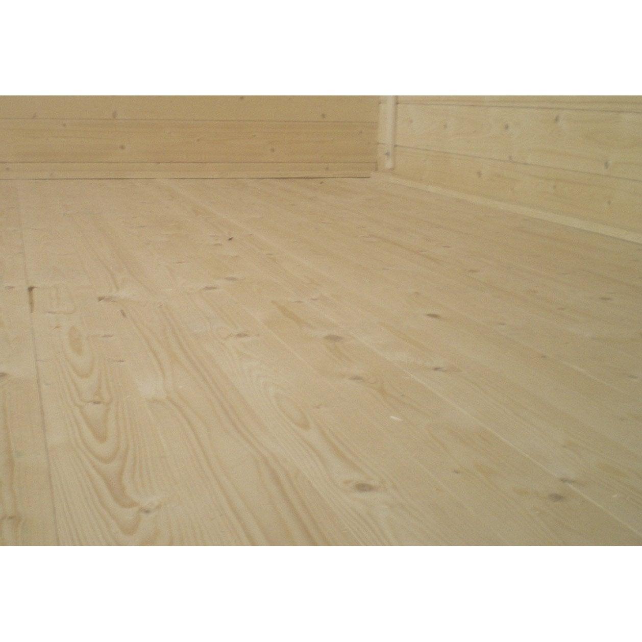 plancher en bois pour abri de jardin karpa luoman l 254 x h 1 6 x p 254cm leroy merlin. Black Bedroom Furniture Sets. Home Design Ideas