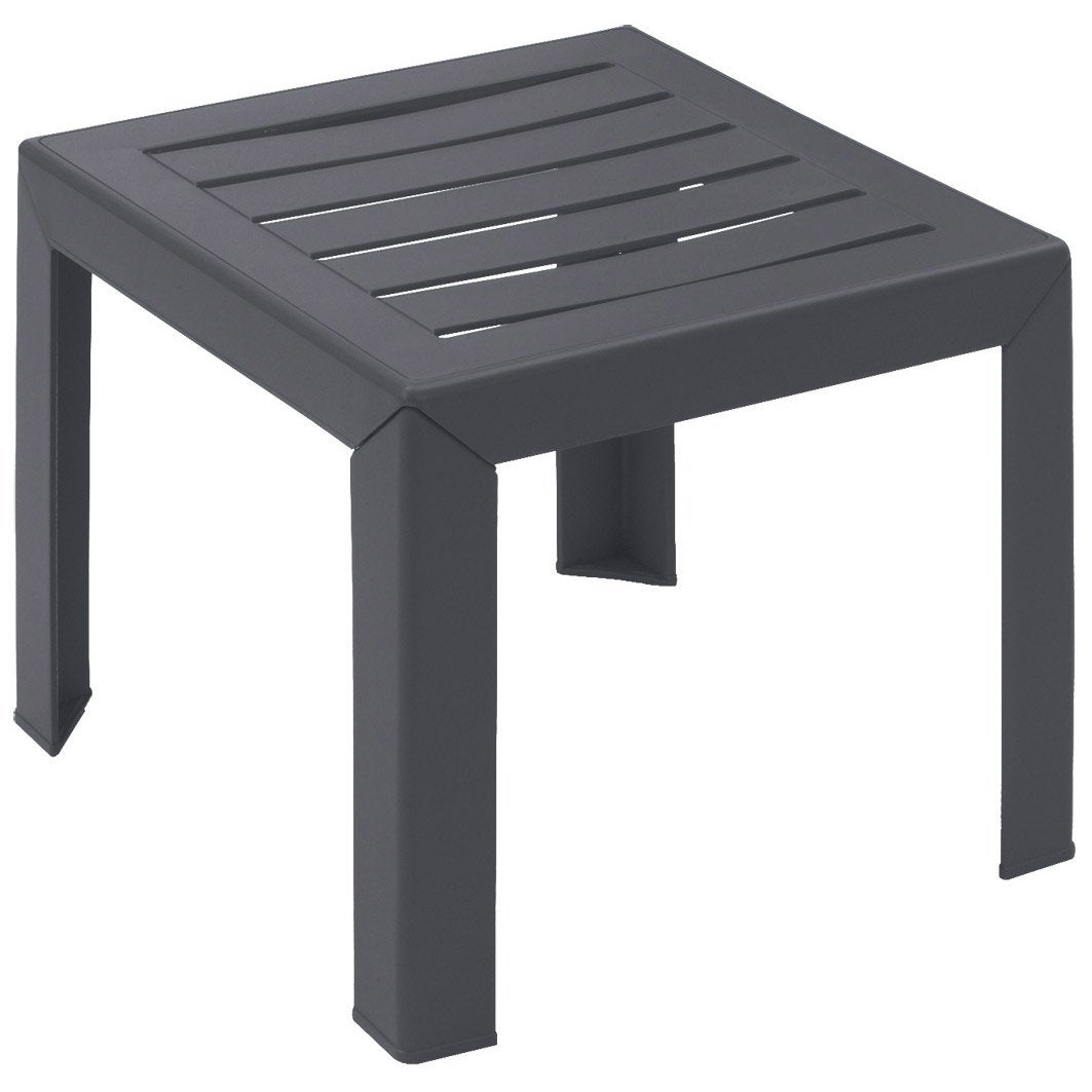 Table basse grosfillex miami carr e anthracite 2 personnes - Table basse exterieur design ...