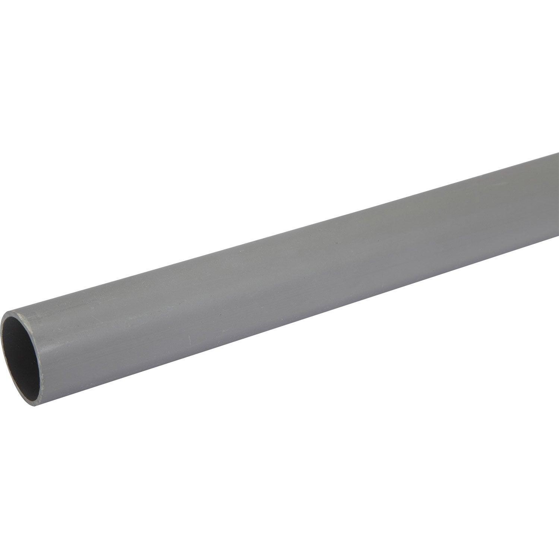 tube d 39 vacuation pvc mm l 1 m leroy merlin. Black Bedroom Furniture Sets. Home Design Ideas