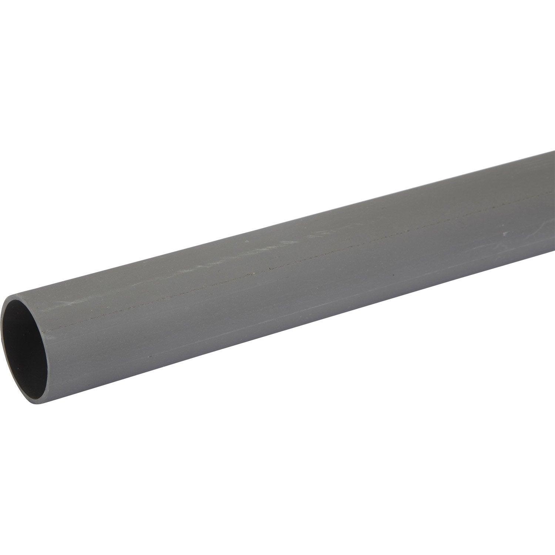tube d 39 vacuation pvc mm l 4 m leroy merlin. Black Bedroom Furniture Sets. Home Design Ideas