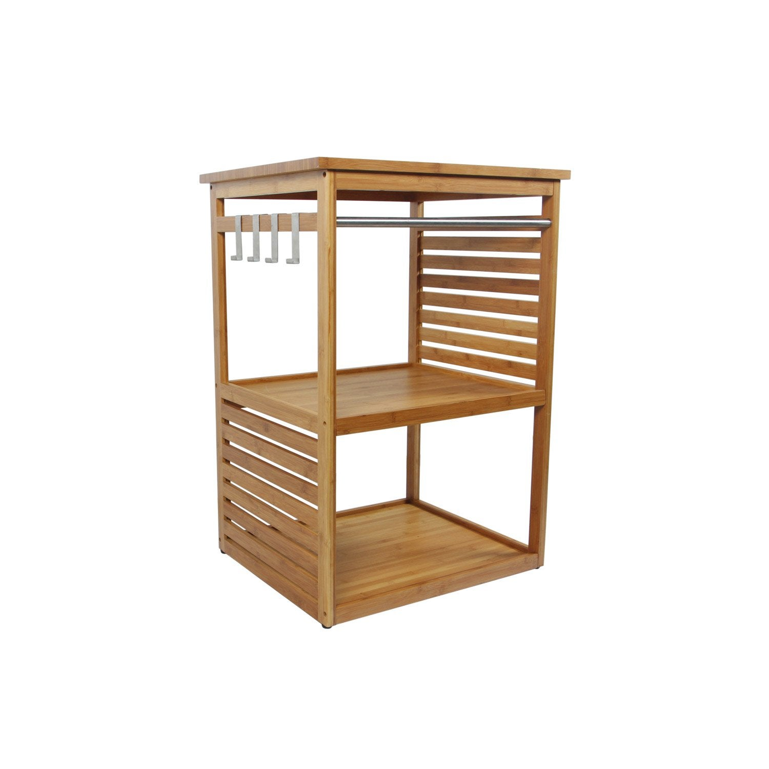 Meuble sous vasque x x cm natural leroy for Meuble vasque bambou